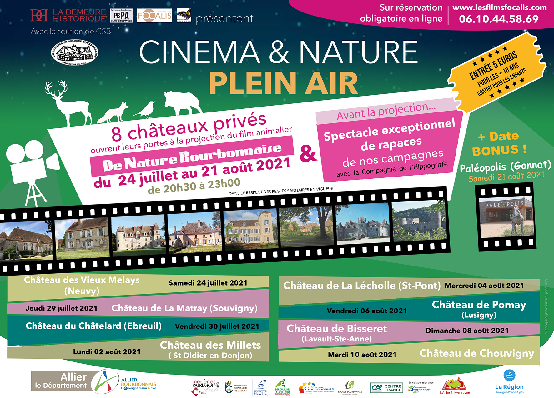 Flyer 2021 Châteaux et nature bourbonnaise V4